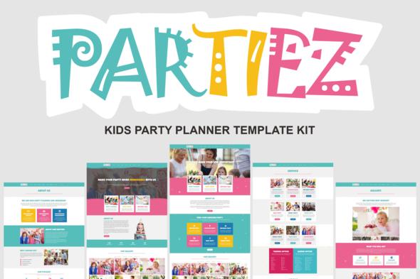 Partiez – Kids Party Planner Template Kit, Gobase64