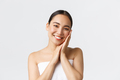 Beauty, personal care, spa salon and skincare concept. Tender beautiful asian girl in bath towel - PhotoDune Item for Sale