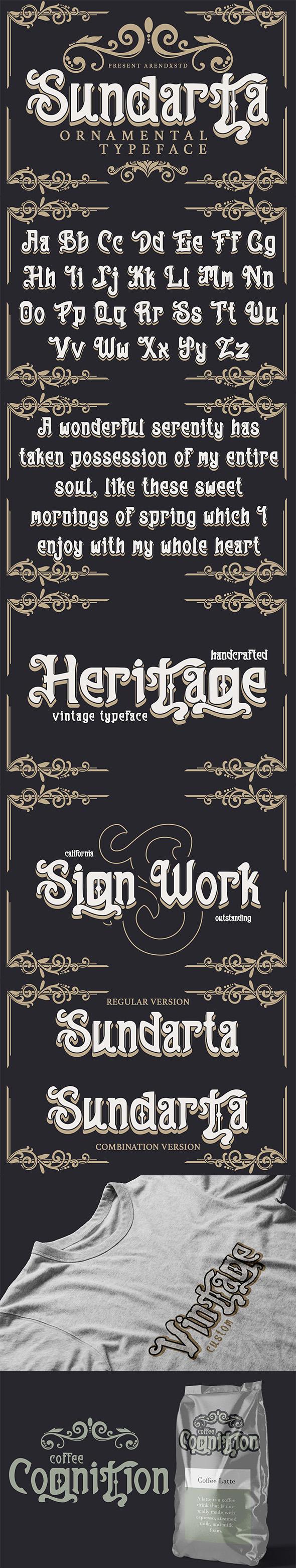 Sundarta | Vintage Typeface