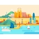 Barcelona City. Travel and Tourism Background. - GraphicRiver Item for Sale
