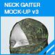 Neck Gaiter Mock-up v3 - GraphicRiver Item for Sale