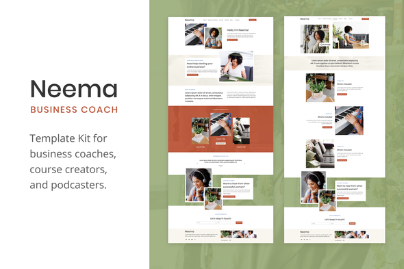 Neema – Business Coach Elementor Template Kit, Gobase64