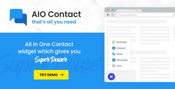 AIO Contact - All in One Contact Widget