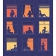 People in Windows Apartment Building Look Out - GraphicRiver Item for Sale
