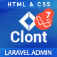 Clont – Laravel Dashboard Template - ThemeForest Item for Sale