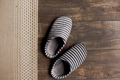Slippers on the brown parquet floor - PhotoDune Item for Sale