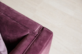 Purple velvet sofa with golden pillow in living room interior - PhotoDune Item for Sale