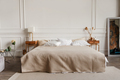 Luxury contemporary bedroom interior with gypsum stucco on white walls - PhotoDune Item for Sale