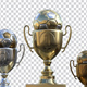 Golden Trophy With Soccerball - GraphicRiver Item for Sale