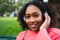 Afro american woman listening music - PhotoDune Item for Sale