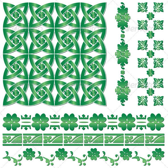 Ornaments for St. Patrick`s Day