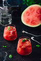 Watermelon and strawberry cocktail with mint garnish - PhotoDune Item for Sale