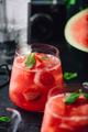 Fresh watermelon and strawberry cocktail - PhotoDune Item for Sale