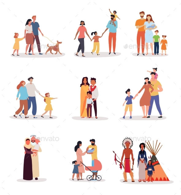 Heterosexual Families of Different Ethnicity