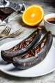 Grilled bananas with dark chocolate - PhotoDune Item for Sale