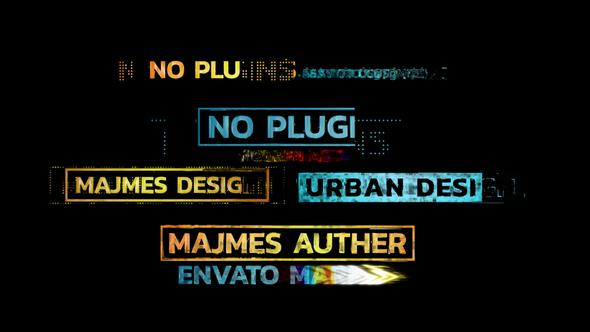 Urban Glitch Titles