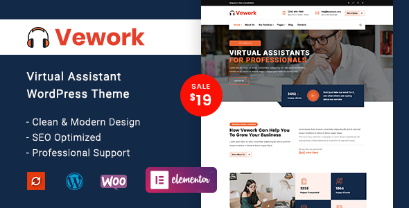 Vework – Virtual Assistant WordPress Theme