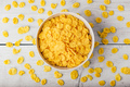 White bowl of corn flakes - PhotoDune Item for Sale
