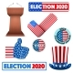 Symbols of USA Election 2020 - GraphicRiver Item for Sale