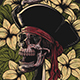 Floral Pirates T-Shirt Design llustration - GraphicRiver Item for Sale
