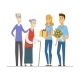 Volunteers and Senior People - Flat Design Style - GraphicRiver Item for Sale