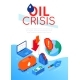 Oil Crisis - Modern Colorful Isometric Web Banner - GraphicRiver Item for Sale