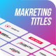 Marketing Titles & Lower-Thirds - VideoHive Item for Sale