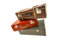 Vintage suitcase over white background. Isolated on white background - PhotoDune Item for Sale
