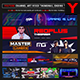 Esports Gamer Youtube Channel Art/Video Thumbnail and Ending Video Template - GraphicRiver Item for Sale