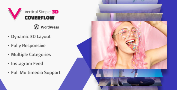 Vertical Simple 3D Coverflow Wordpress Plugin