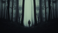 Dark mysterious silhouette in scary forest - PhotoDune Item for Sale