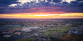 Aerival view of typical american suburb at sunset - PhotoDune Item for Sale