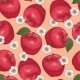 Seamless Pattern with Red Apples and Flowers - GraphicRiver Item for Sale