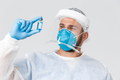Covid-19 pandemic, virus outbreak, clinic and healthcare workers concept. Satisfied doctor, clinic - PhotoDune Item for Sale
