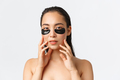 Skincare, women beauty, hygiene and personal care concept. Close-up of attractive asian female - PhotoDune Item for Sale