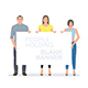 People with Banner - GraphicRiver Item for Sale