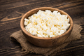 Curd or cottage cheese at wooden table - PhotoDune Item for Sale