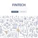 Fintech Doodle Concept - GraphicRiver Item for Sale