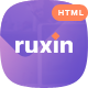 Ruxin - App Landing Page HTML Template - ThemeForest Item for Sale