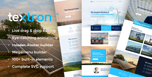 Textron - Industrial WordPress Theme + WooCommerce Shop