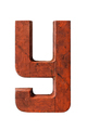 Old wooden painted red letter Y - PhotoDune Item for Sale