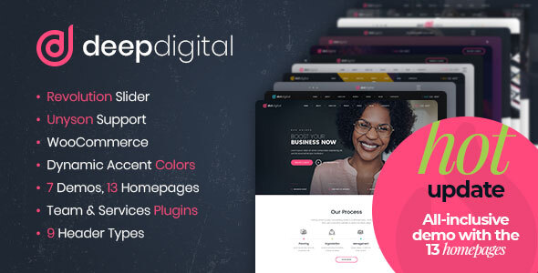 DeepDigital – Web Design Agency WordPress Theme