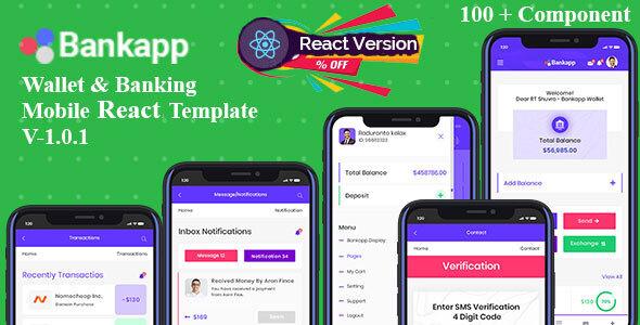 Bankapp - Mobilekit Wallet & Banking React Mobile Template With RTL