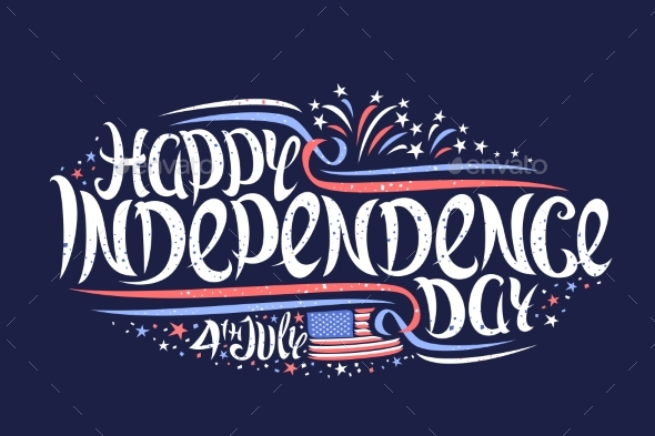 Vector Greeting Card for Independence Day