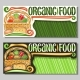 Vector Banners for Organic Food - GraphicRiver Item for Sale