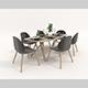Contemporary Design Dining Set - 3DOcean Item for Sale