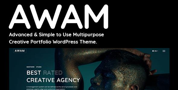 Awam - Creative Portfolio & Agency WordPress Theme