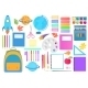 A Large Set of School Supplies for Home School - GraphicRiver Item for Sale