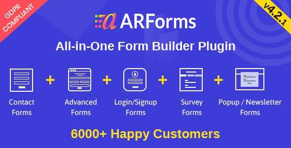 ARForms: WordPress Form Builder PluginPrice : $27