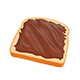 Nutella Toast - 3DOcean Item for Sale